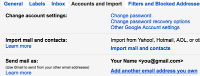 Gmail send mail as section