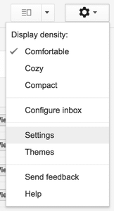 Navigating to Gmail settings